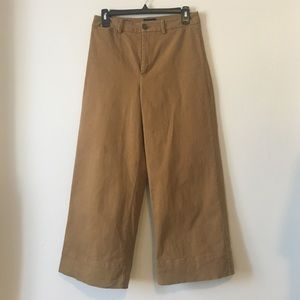 Frank And Oak Josephine Cropped Pant in Olive